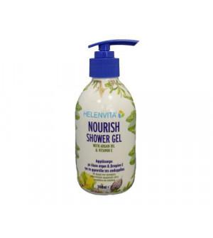 Helenvita Nourish Shower Gel Αφρόλουτρο 300ml. Με άρωμα που προσφέρει αναγεννητικές αρωματικές νότες αμυγδάλου και αχλαδιού.