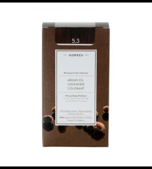 Korres Argan Oil Advanced Colorant N5.3 Καστανο Ανοιχτο Μελι Promo 50ml
