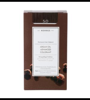 Korres Argan Oil Advanced Colorant N5.0 Καστανο Ανοιχτο Φυσικο Promo 50ml