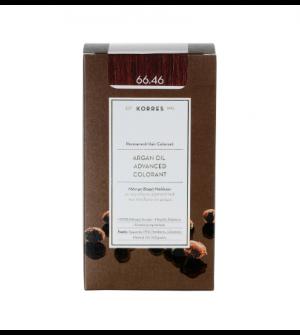 Korres Argan Oil Advanced Colorant N66.46 Εντονο Κοκκινο Βουργουνδιας Promo 50ml