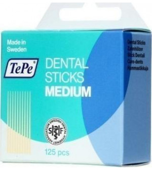 Tepe Dental Sticks Μαλακές οδοντογλυφίδες χωρίς φθόριο, 125τεμ.