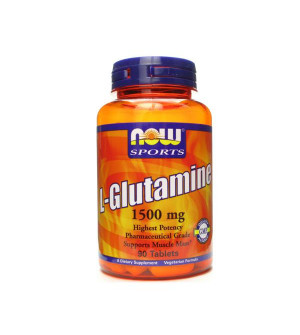 Now Foods - L-Glutamine 1500mg 90tabs