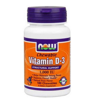 Now Vitamin D3 1.000 IU, 180 softgels