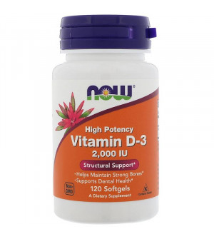 Now Vitamin D3 2000iu 120caps