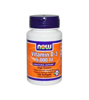 Now Vitamin D-3 5000 IU 120 μαλακές κάψουλες