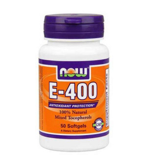 Now Foods - E-400 IU, Mixed Tocopherols / Unsterified - 50 Softgels
