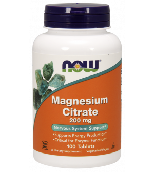Now Magnesium Citrate 200mg 100VegTabs