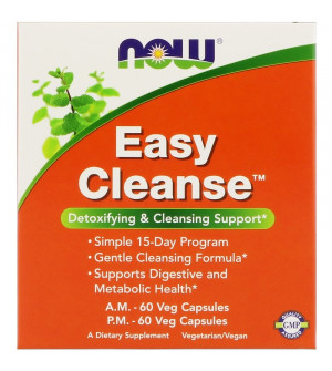 Now Easy Cleanse Kit A.M. & P.M. 2x60caps