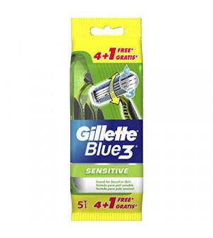 Gillette Blue 3 Sensitive (4 τεμάχια + 1 δώρο)
