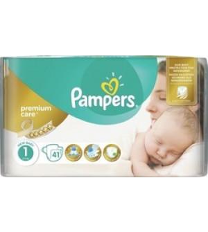 Pampers Premium Care Πάνες Μέγεθος 1 (Newborn) 2-5 kg, 41 Πάνες