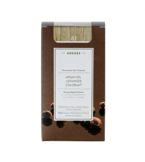 Korres Argan Oil Advanced Colorant N8.1 Ξανθο Ανοιχτο Σαντρε Promo(Λτ-20%) 50ml