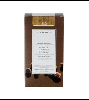 Korres Argan Oil Advanced Colorant N8.0 Ξανθο Ανοιχτο Φυσικο Promo 50ml