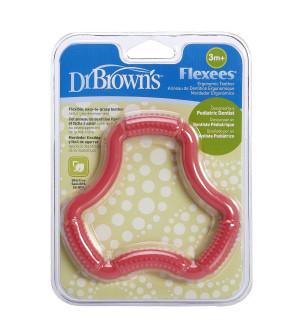 Dr. Brown'S Flexees Κρίκος Οδοντοφυίας Ρόζ 3m+