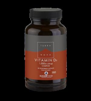 Terranova Vitamin D3 Complex 1000Iu 50Caps