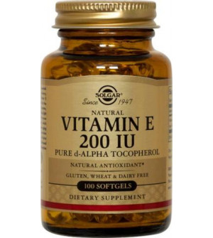 Solgar Vitamin E 200Iu Softgels 50S
