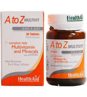 Health Aid A to Z Multivit Minerals & Lutein 30Tabs