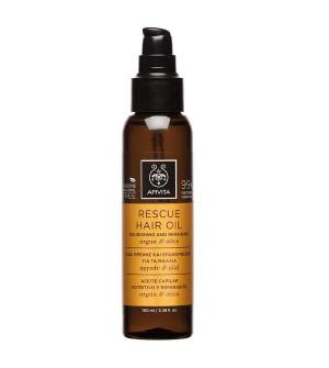 Apivita Rescue Hair Oil Λάδι Θρέψης - Επανόρθωσης για τα Μαλλιά με Αργκάν & Ελιά 100ml