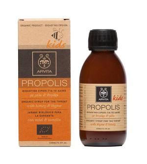 Apivita Propolis Kids Βιολογικό Παιδικό Σιρόπι Για Το Λαιμό Με Μέλι & Θυμάρι 150ml