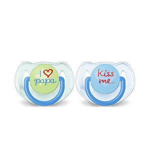 Philips Avent Orthodontic Soother 6-18M 2pcs Αγόρι- Μπλέ/Πράσινο