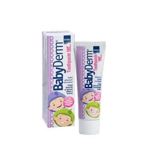 Intermed BabyDerm Παιδική Οδοντόκρεμα Με Άρωμα Τσιχλόφουσκας 50ml