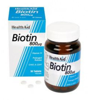 Health Aid Biotin 800Mg 30Tabs