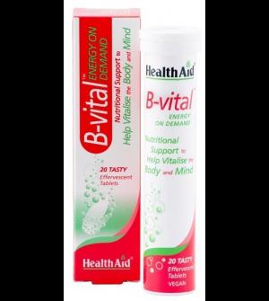 Health Aid Vitamin B-Vital Effervescent- Apricot 20Tabs