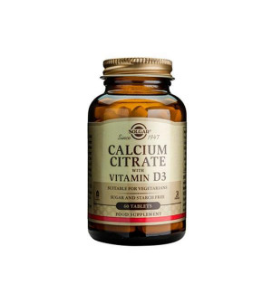 Solgar Calcium Citrate With Vitamin D3 60Tabs