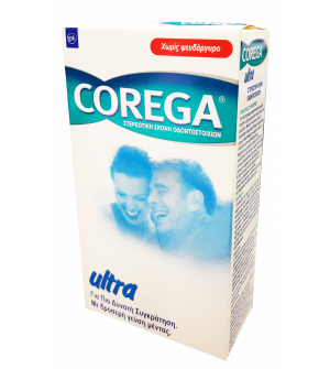 Corega Ultra Στερεωτική Σκόνη Οδοντοστοιχιών 40g