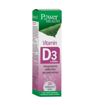 Power Health Vitamin D3 2.000iu 20eff.tabs