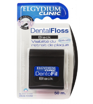Elgydium Black Οδοντικό Νήμα 50m