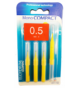 Elgydium Mono Compact Yellow 0.5 Μεσοδοντια Βουρτσακια 4τεμ.