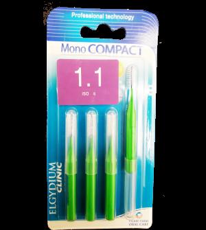 Elgydium Mono Compact Green 1.1 Μεσοδοντια Βουρτσακια 4τεμ.