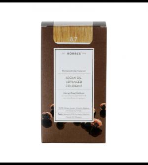Korres Argan Oil Advanced Colorant N8.7 Καραμελα Promo 50ml