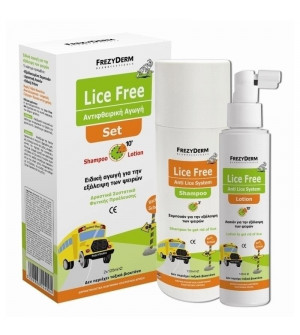 Frezyderm Lice Free Anti Lice System Set (Shampoo 125ml + Lotion 125ml + Χτένα)