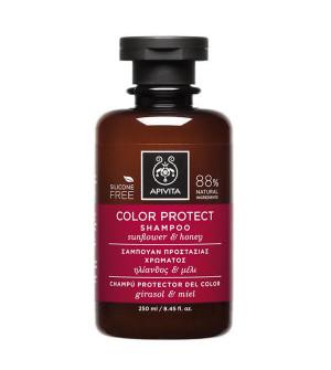 Apivita Color Protect Σαμπουάν Προστασίας Χρώματος με Ηλίανθο & Μέλι 250ml