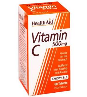 Health Aid Vit C 500Mg 60Tabs