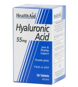 Health Aid Hyaluronic Acid Υαλουρονικό 55Mg 30Tabs