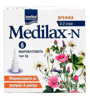 Intermed Medilax-N Βρεφικά Μικροκλύσματα 6x3g