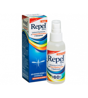 Uni-Pharma Repel Spray Άοσμο Εντομοαπωθητικό Με Υαλουρονικό 100ml
