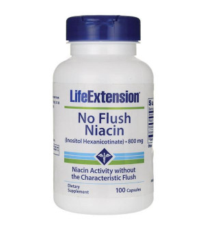 Life Extension No Flush Niasin 800mg 100caps