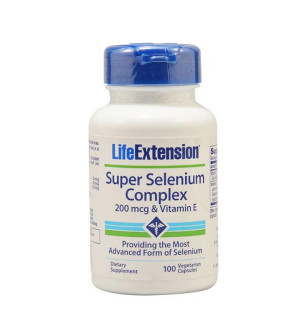 Life Extension Super Selenium Complex & Vitamin E 200Mg 100Caps