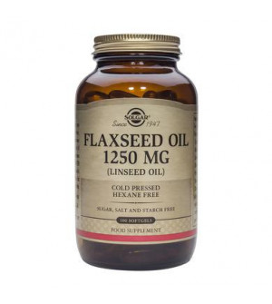Solgar Flaxseed Oil (Cold Pressed) 1250Mg 100Softgels