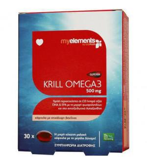 My Elements Krill Omega 3 500Mg Softgels 30S
