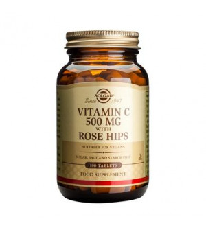 Solgar Vitamin C 500mg With Rose Hips 100Tabs