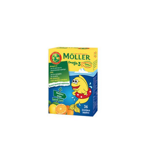Moller's Omega-3 36 Ζελεδάκια Ψαράκια