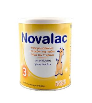 Novalac 3 Γάλα 3ης Βρεφικής Ηλικίας Γεύση Βανίλια (1-3 ετών) 400gr