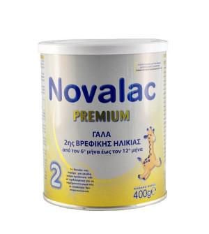 Novalac Premium 2 Γάλα 2ης Βρεφικής Ηλικίας από τον 6ο έως τον 12ο Μήνα (6-12M) 400gr