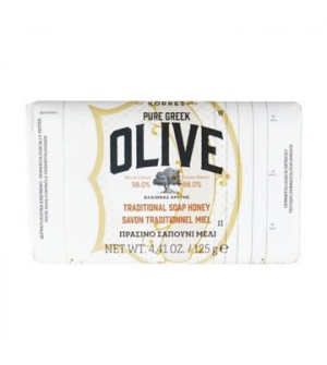 Korres Pure Greek Olive Πράσινο Σαπούνι Με Μέλι 125g