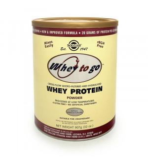 Solgar Whey to Go Protein Powder Vanilla Flavour 907g