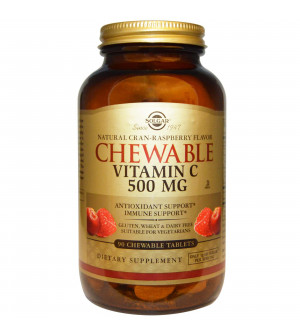 Solgar Chewable Vitamin C 500mg Cran-Raspberry Flavour 90ch.tabs